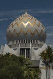 Dome and Minarets of Sabah State Mosque in Kota Kinabalu Royalty Free Stock Photos