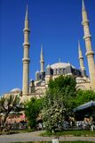 Dome and minarets of Sinan`s Selimiye Mosque stock images