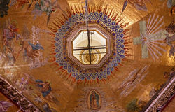 Dome Mosaics Old Basilica Guadalupe Mexico City Mexico Royalty Free Stock Photography