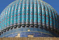 The dome of the mosque Bibi Khanum stock photography