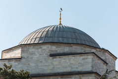 Dome Of A Mosque. On a blue sky background stock photography