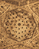 Dome of the mosque, oriental ornaments, Bukhara. Dome of the mosque, oriental ornaments from Bukhara, Uzbekistan Stock Photography