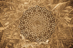 Dome of the mosque, oriental ornaments, Bukhara. Dome of the mosque, oriental ornaments from Bukhara, Uzbekistan Royalty Free Stock Photo