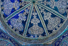 Dome of the mosque, oriental ornaments from Bukhara, Uzbekistan Stock Photography