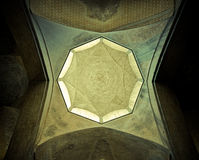 Dome of the mosque, oriental ornaments, Isfahan Royalty Free Stock Photos