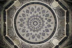 Dome of the mosque, oriental ornaments, Samarkand Stock Photos