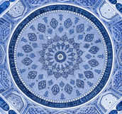 Dome of the mosque, oriental ornaments, Samarkand. Dome of the mosque, oriental ornaments from Samarkand, Uzbekistan Royalty Free Stock Photo