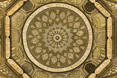 Dome of the mosque, oriental ornaments, Samarkand. Dome of the mosque, oriental ornaments from Samarkand, Uzbekistan Stock Photography