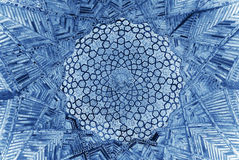 Dome of the mosque, oriental ornaments, Uzbekistan Royalty Free Stock Photography