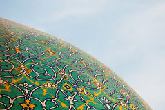 Dome of the mosque over blue sky, Isfahan, Iran Stock Photography