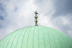 Dome of the mosque, Pecs, Hungary. Royalty Free Stock Photo