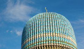 The dome of the mosque in Saint-Petersburg Royalty Free Stock Image