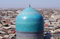 Dome of mosque in Samarkand, Uzbekistan stock images