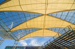 Dome of Munich airport Stock Photo