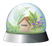 A dome with a native house inside Stock Images