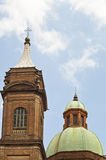 Dome near asinelli tower in Bologna Stock Photography