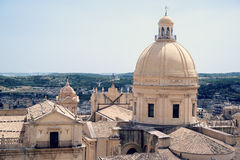 Dome in Noto, Sicily Royalty Free Stock Photo