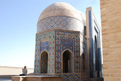 The dome in octagonal mausoleum (Sakkiz Qirrali Maqbara) stock photography