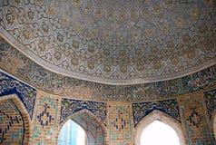 The dome in octagonal mausoleum (Sakkiz Qirrali Maqbara) stock photos