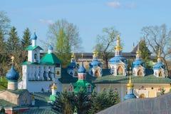 Free Dome Of The Holy Dormition Pskovo-Pechersky Monastery, Sunny Morning. Pechory, Russia Stock Image - 73604941