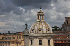 Dome of the old historical buildings, Rome Royalty Free Stock Images
