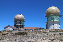 Dome of an old observatory near the highest point of Serra da Estrela Royalty Free Stock Photo