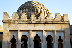 dome    old ruin in     construction  africa   morocco   tower Royalty Free Stock Photography