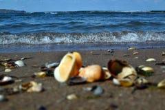 Dome ondas do mar de Azov foto de stock