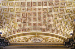 Dome with ornate ceiling Royalty Free Stock Images