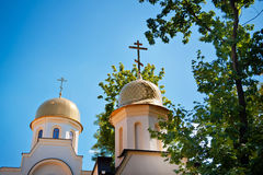 Dome of the Orthodox Church against the sky Royalty Free Stock Images