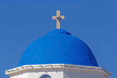 Dome of Orthodox church in Akrotiri Stock Photo