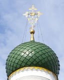 Dome of the Orthodox church with cross royalty free stock image