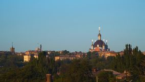 The dome of the Orthodox church stock footage