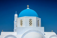 Dome of orthodox church of Pyrgo Stock Photography