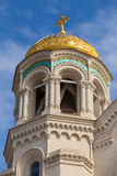 Dome of Orthodox Naval cathedral of St. Nicholas Stock Photos