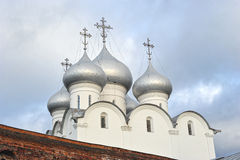 Dome of the Orthodox St. Sophia Cathedral. In Vologda, Russia Stock Images