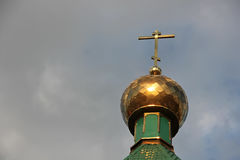 The dome of an Orthodox temple. Against the sky Stock Photography