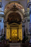 Dome and other architectural details in Palermo cathedral at Sicily Stock Image