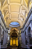Dome and other architectural details in Palermo cathedral at Sicily Royalty Free Stock Images