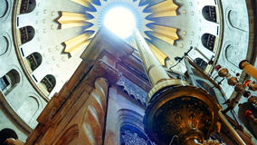 Dome over Jesus Empty Tomb in Jerusalem. Dome over Jesus Christ empty tomb and rotunda in Jerusalem in the Holy Sepulcher Church. The Church and Empty Tomb the royalty free stock photo