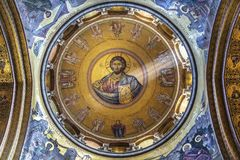 Dome over Kafolikon in the Church of the Holy Sepulcher, Jerusalem. Israel stock photography