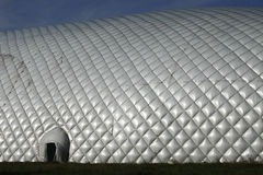 Dome over soccer field Royalty Free Stock Photos
