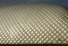 Dome over soccer field Stock Photos