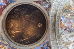 Dome painted in the church of St. Ignatius in Rome Stock Photo