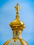 Dome of the palace. Petergof, Saint Petersburg, Russia stock image