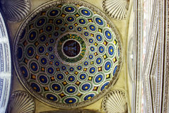 Dome of a palace in Florence. This is the detail of a palace in Florence. It is a richly decorated dome Royalty Free Stock Images
