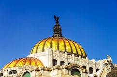 Dome of Palacio de las Bellas Artes Royalty Free Stock Photography