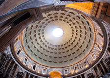 Dome of Panteon, Rome Stock Images