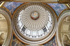 Dome of Pantheon. Interior of the dome of Pantheon in Paris Royalty Free Stock Photo