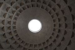 Rome, Italy - September 13, 2017: The dome of the Pantheon as seen from inside the Pantheon. Stock Photo